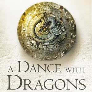 Detalle de la portada de A Dance with Dragons