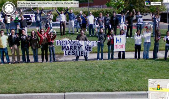 Propuesta de matrimonio en Google Maps