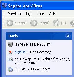 Antivirus klingon
