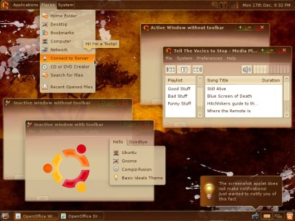 Tema Ubuntu Hardy heron