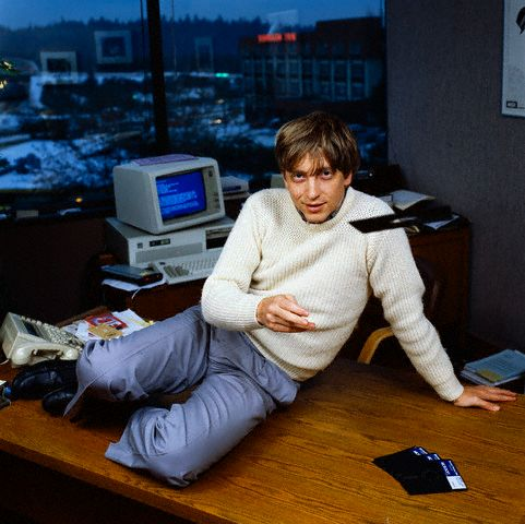 Bill Gates en pose sexy
