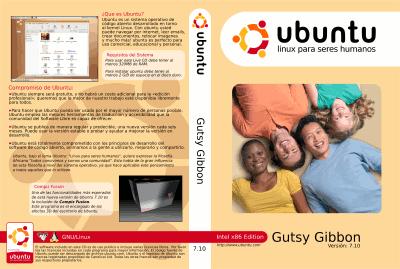 Caratula CD Ubuntu Gutsy Gibbon