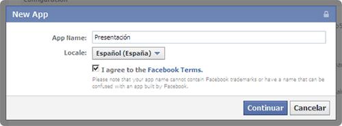 Crear aplicación Facebook