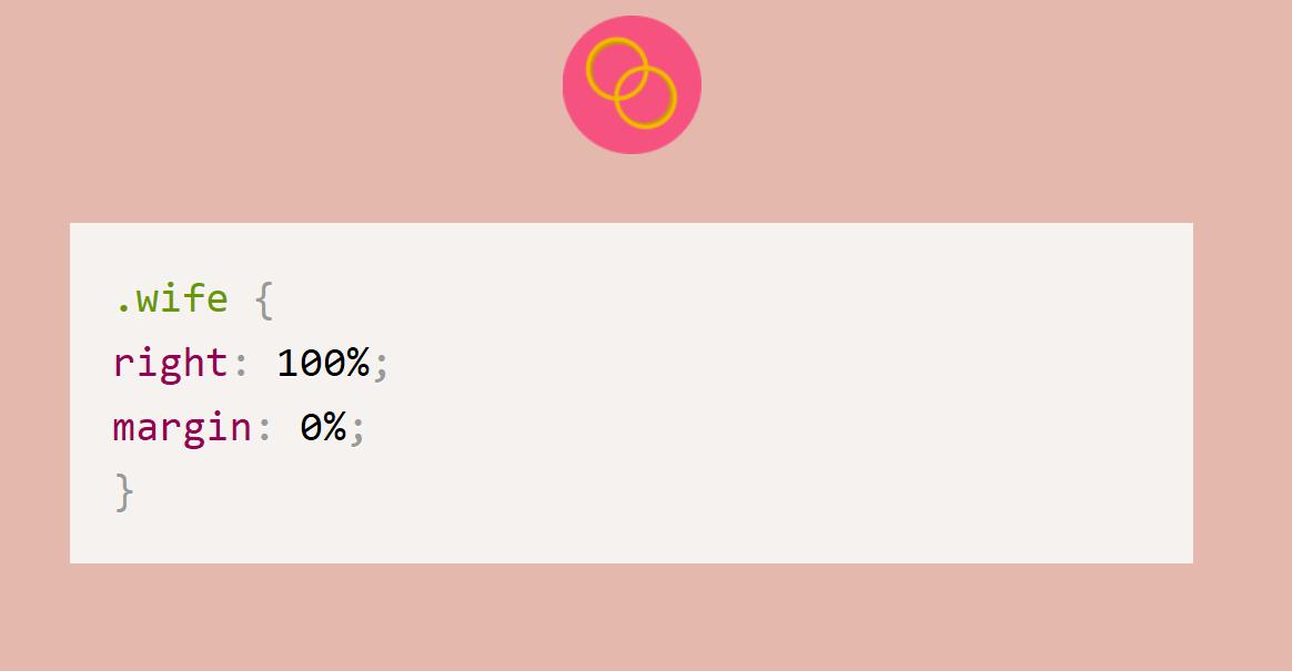 Humor con CSS: Tu esposa siempre tiene la razón