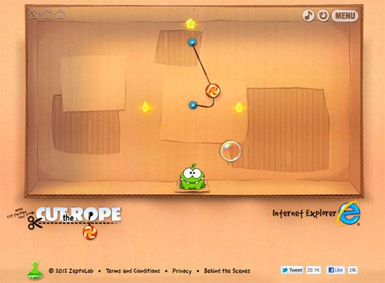 Cut the Rope en HTML 5
