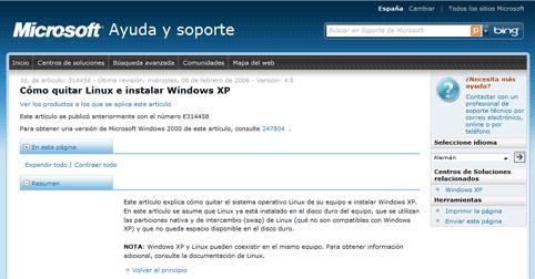 Desinstalar Linux e instalar Windows