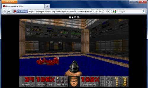 Doom corriendo en Firefox
