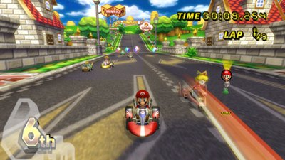 Emulador de Wii corriendo Mario Kart Wii