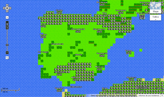 Google Maps en 8 bits