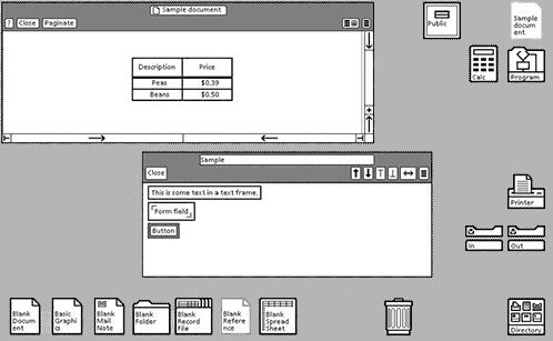Interfaz gráfica del Xerox Star