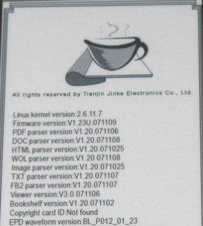 Firmware libro electrónico Hanlin v3