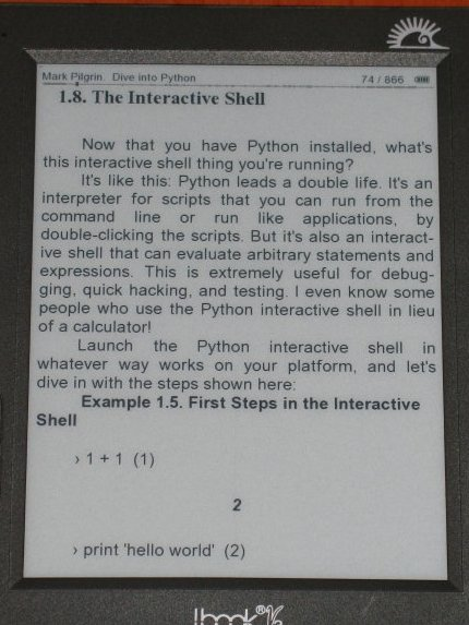 Tamaño pequeño libro electrónico Hanlin v3