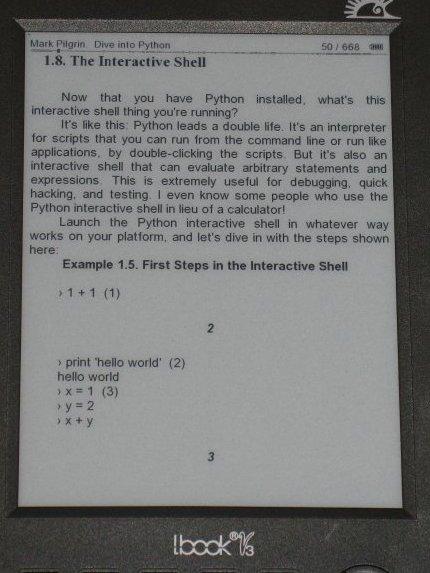 Tamaño más pequeño libro electrónico Hanlin v3