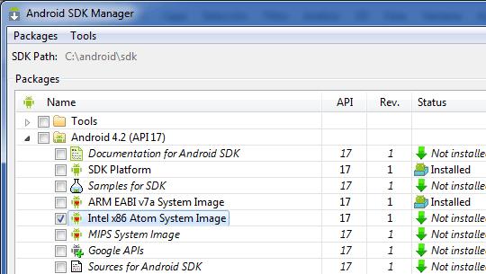 Instalando la imagen x86 de Android