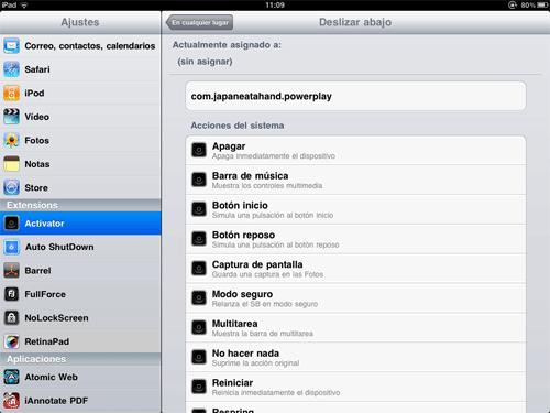 Activator para iPad