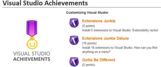 Logros en Visual Studio