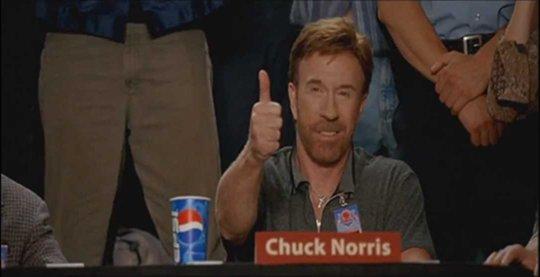 Chuck Norris aprueba el estándar HTML