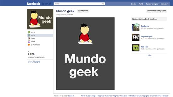 Página personalizada en Facebook