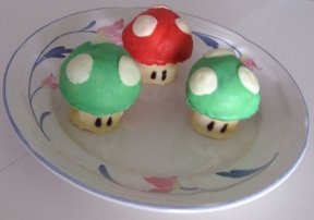 Pastelitos de setas de Super Mario