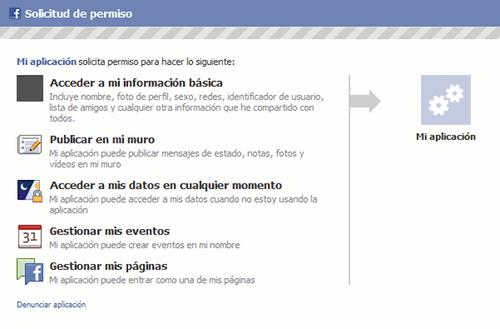 Dando permisos a nuestra aplicación PHP para Facebook