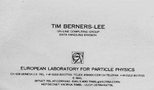 Tarjeta de visita de Bill Gates (CERN)