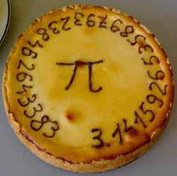 Tarta para conmemorar el día de Pi de la Universidad de Delft