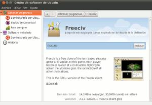 Centro de software de Ubuntu 10.10