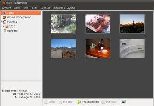 Shotwell, el gestor de fotografías por defecto de Ubuntu 10.10
