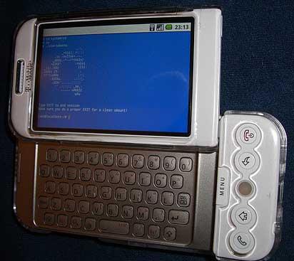 Ubuntu Jaunty Jackalope en un HTC Dream
