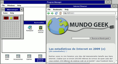 Windows 3.11 en el navegador