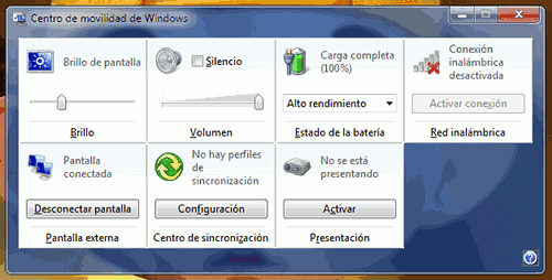 Windows 7 movilidad