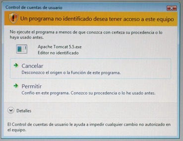 Desactivar confirmaciones Windows Vista