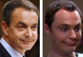 Parecido de Zapatero y Sheldon